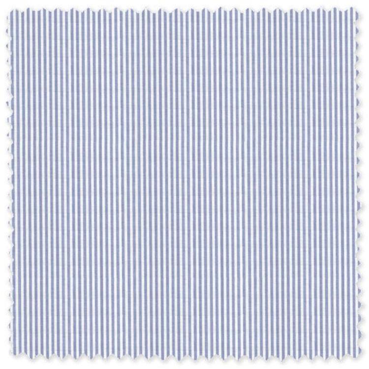 Light Blue and White Stripe Custom Dress Shirt by Robert Talbott