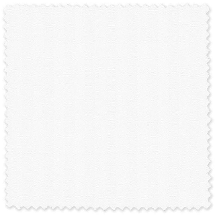 """White Solid 3/16"""" Herringbone Custom Dress Shirt by Robert Talbott"""