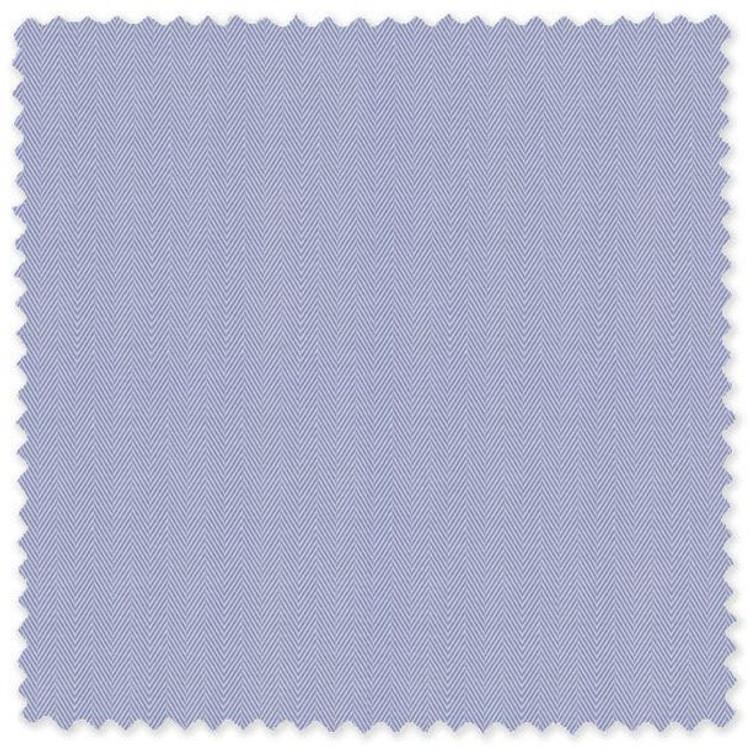 "Light Blue and White 3/16"" Herringbone Custom Dress Shirt by Robert Talbott"