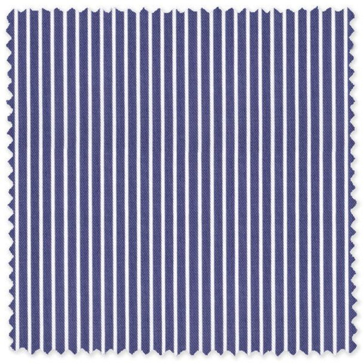 Medium Blue and White Stripe Custom Dress Shirt by Robert Talbott