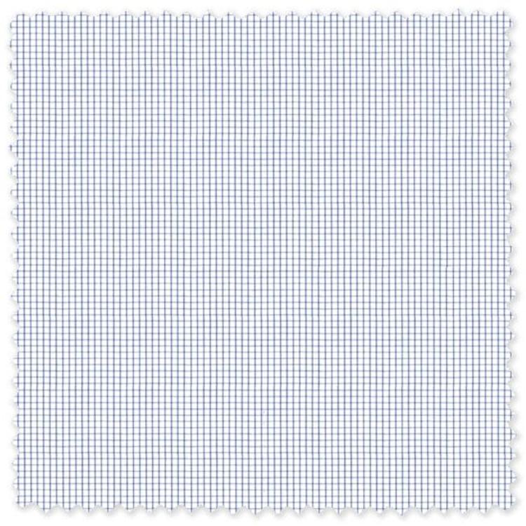 "Blue and White 1/16"" Check Custom Dress Shirt by Robert Talbott"