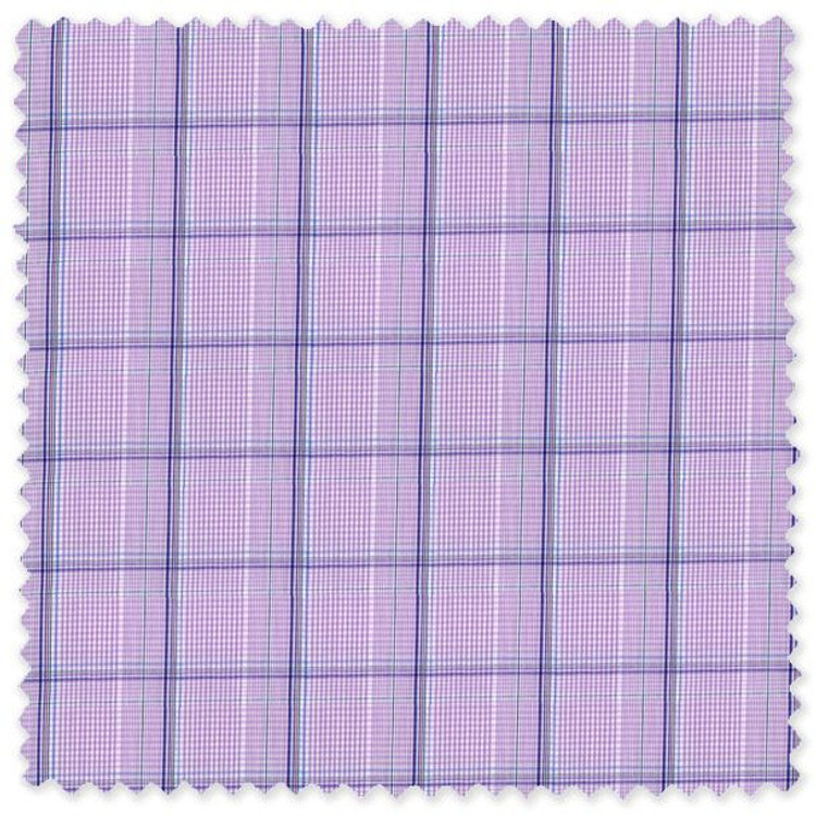 Lilac Meander 71 Windowpane Check Custom Dress Shirt by Gitman Brothers