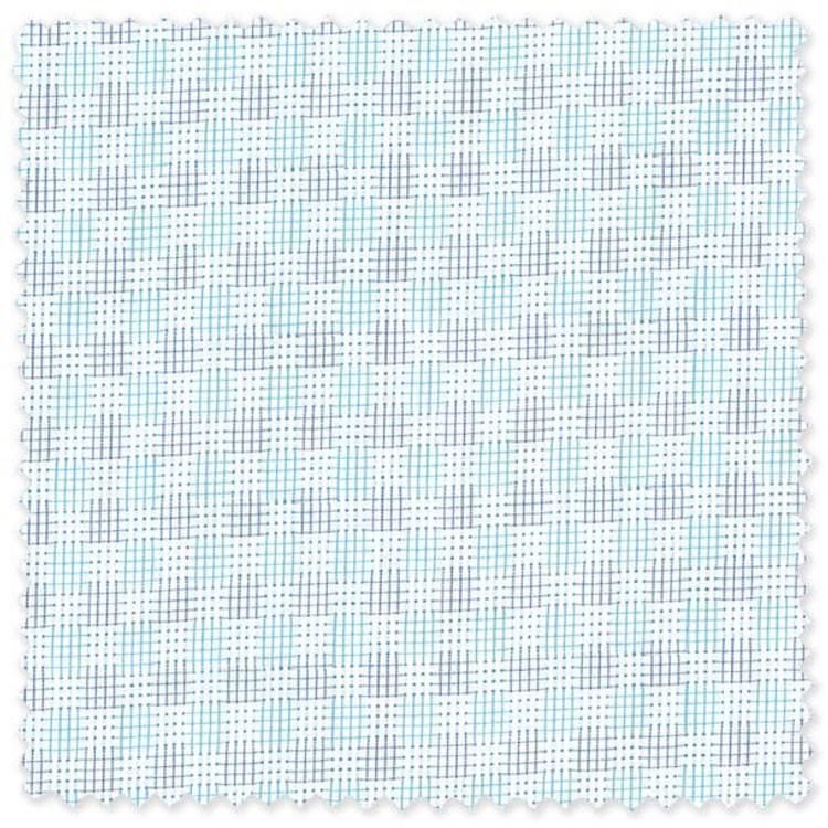 Blue and Aqua on White Gingham Custom Dress Shirt by Gitman Brothers