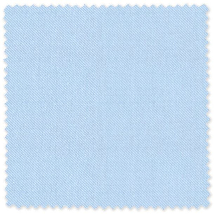 Light Blue 'Thomas Mason' 140's Twill Custom Dress Shirt by Skip Gambert