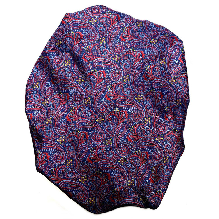 Custom Made Blue and Red Paisley Silk Estate Tie by Robert Talbott