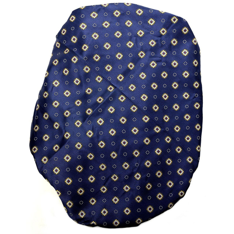 Custom Made Blue and Yellow Medallion Seven Fold Silk Tie by Robert Talbott