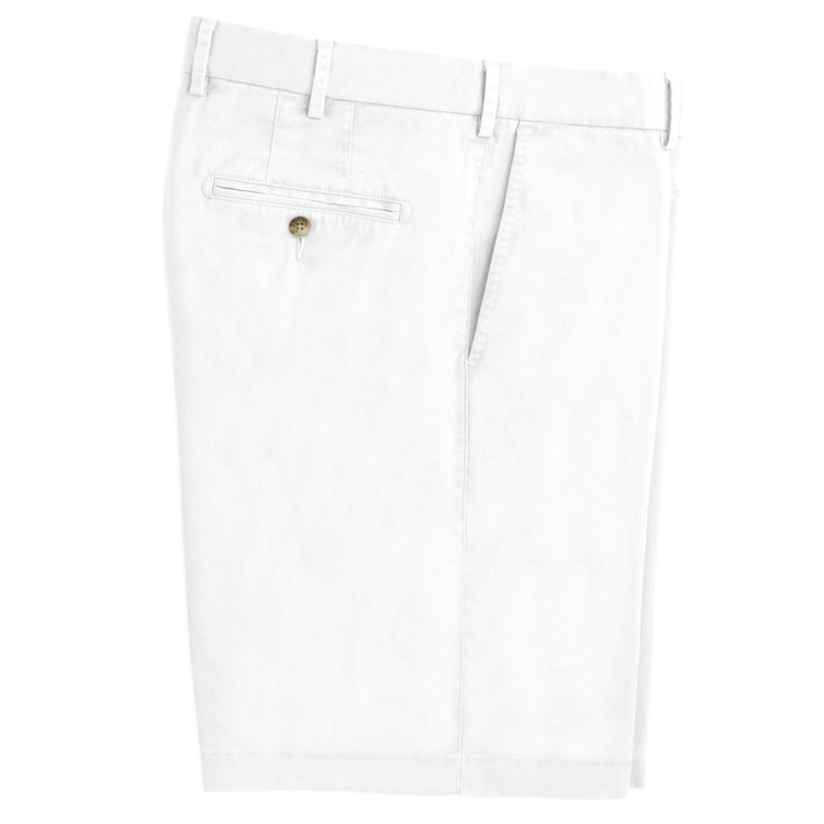 Soft Touch Twill Short in White by Peter Millar