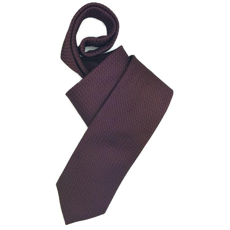 Fall 2017 Best of Class Burgundy 'Super Grenadine' Woven Silk Tie by Robert Talbott