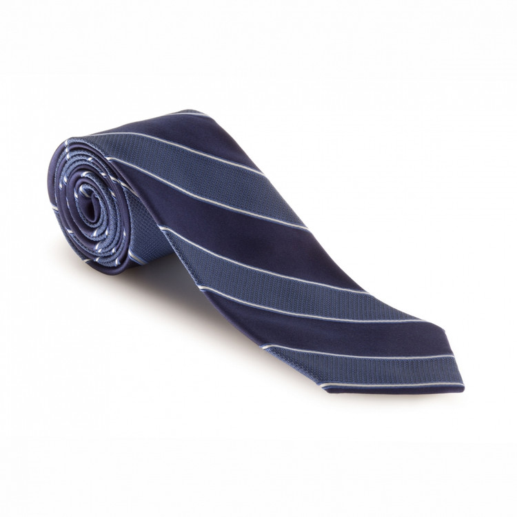 Fall 2017 Best of Class Navy and Blue 'Heritage' Woven Silk Tie by Robert Talbott