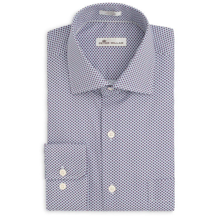 Geometric Horizon Sport Shirt in Firethorn by Peter Millar