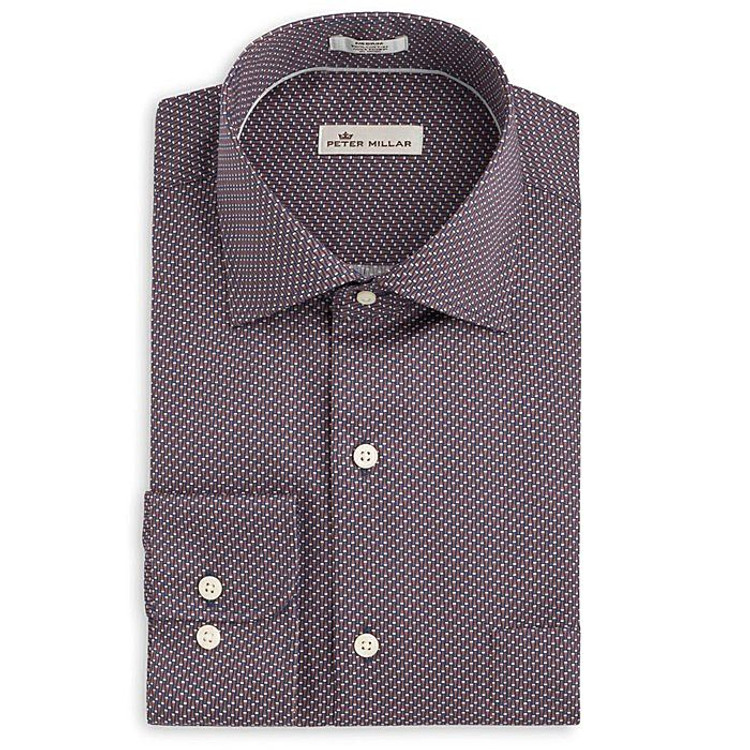 Glass Half Full Sport Shirt in Arctic Night by Peter Millar
