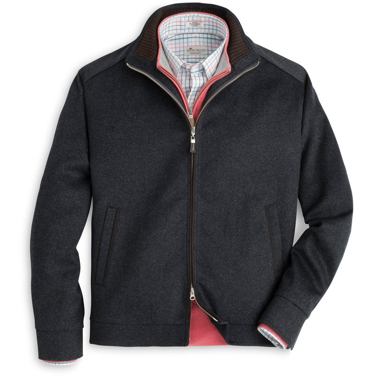 Crown Fleece Wool and Cashmere Westport Jacket in Glacier Grey by Peter Millar