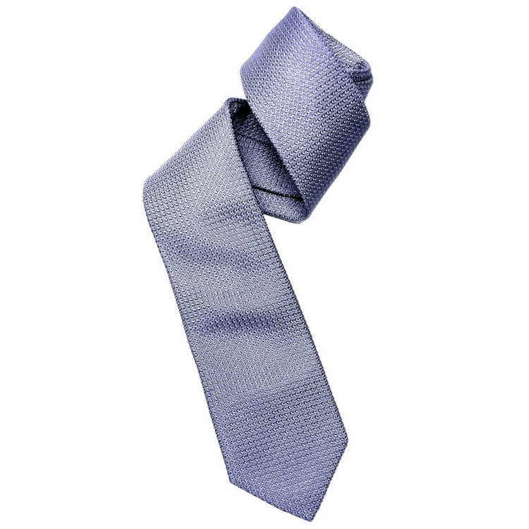 Fall 2017 Best of Class Medium Blue 'Super Grenadine' Woven Silk Tie by Robert Talbott