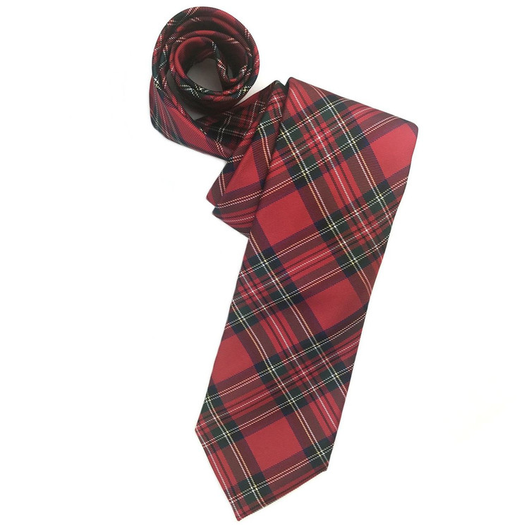 Fall 2017 Best of Class Red, Blue, and Green 'Holiday Tartan' Woven Silk Tie by Robert Talbott