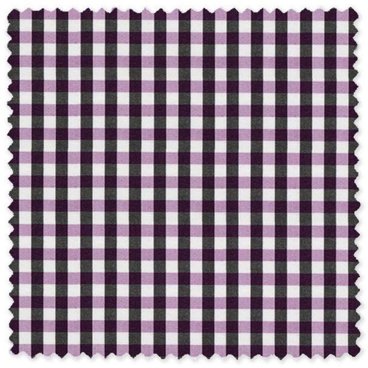 Navy and Purple Check 'Classic 120's' Cotton Broadcloth Custom Dress Shirt  by Skip Gambert