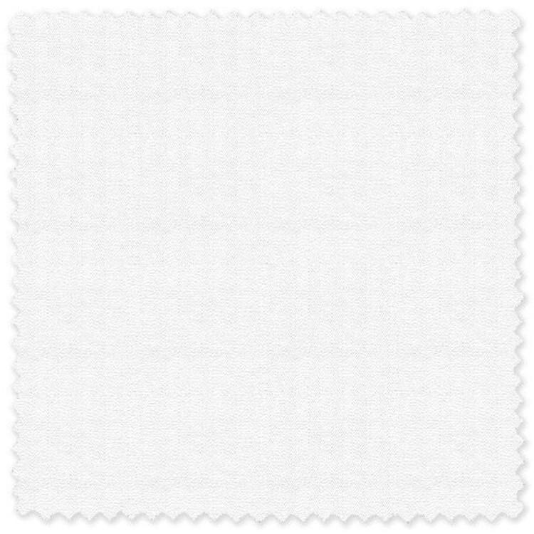 White 'Classic 120's' Cotton Herringbone Custom Dress Shirt by Skip Gambert