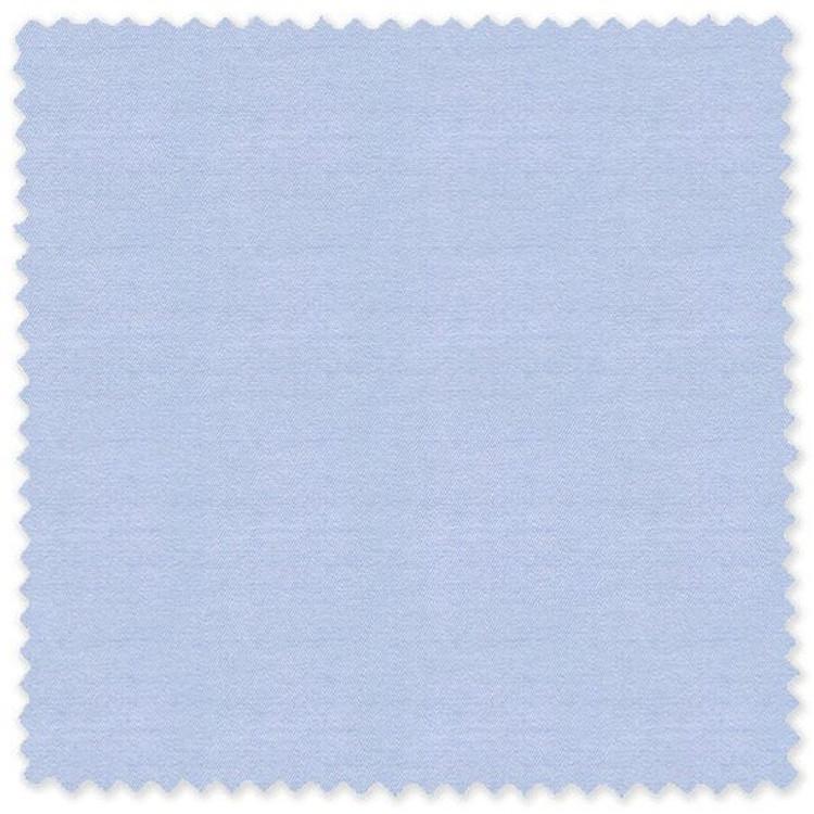 Light Blue 'Classic 120's' Cotton Herringbone Custom Dress Shirt by Skip Gambert