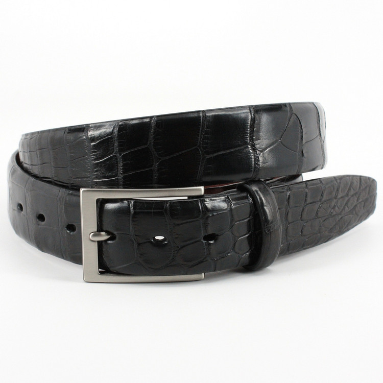 American Alligator Belt in Black Matte by Torino Leather Co.