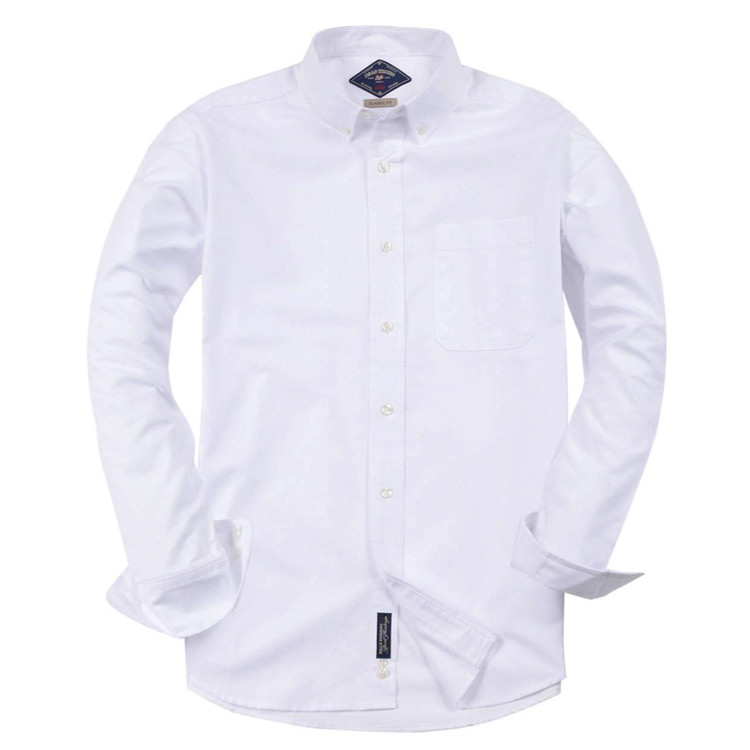 Classic Oxford Shirt in White by Bills Khakis