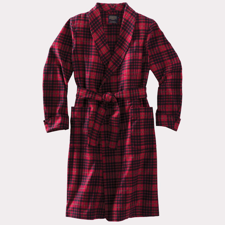 Washable Whisperwool Lounge Robe in Macian Tartan by Pendleton