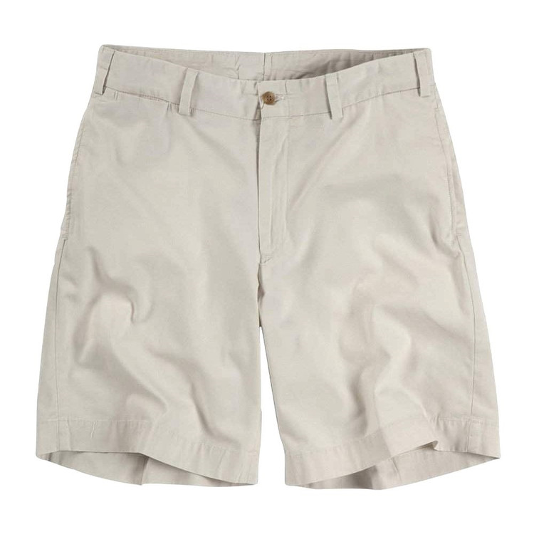 Lightweight Cotton Poplin Short in Stone (Model M2) by Bills Khakis