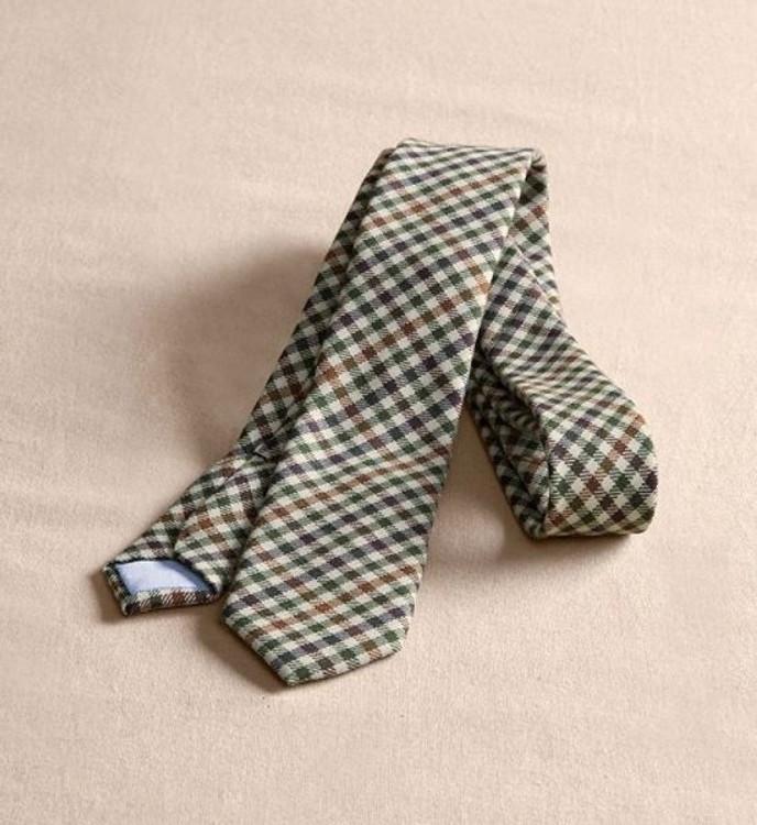 Lichen Multi Check Wool Necktie (Thomas Kay Collection) by Pendleton