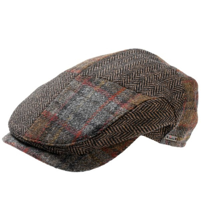 'Stellan' Patchwork Wool Blend Ivy Cap in Brown (Size 56) by Wigens