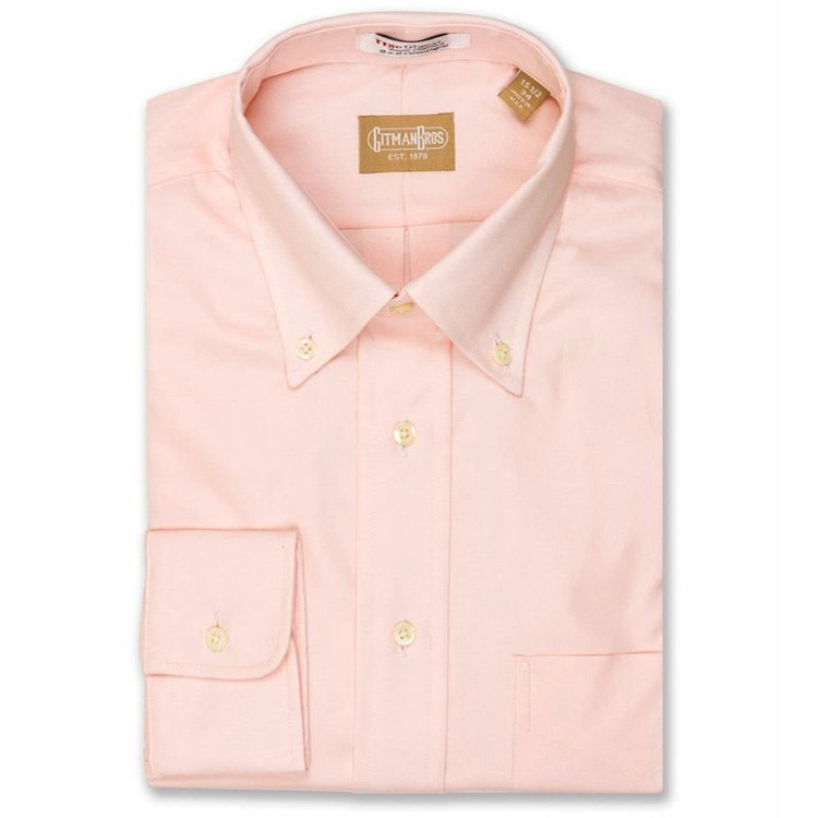 80's 2-Ply Pinpoint Button-Down Shirt in Pink (Size 15 1/2 - 34) by Gitman Brothers