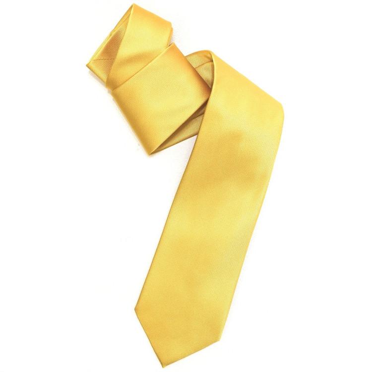 Silk Barathea Tie in Gold by Robert Jensen