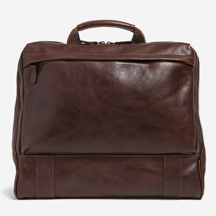 Canady Haversack in Titan Milled Brown by Moore & Giles