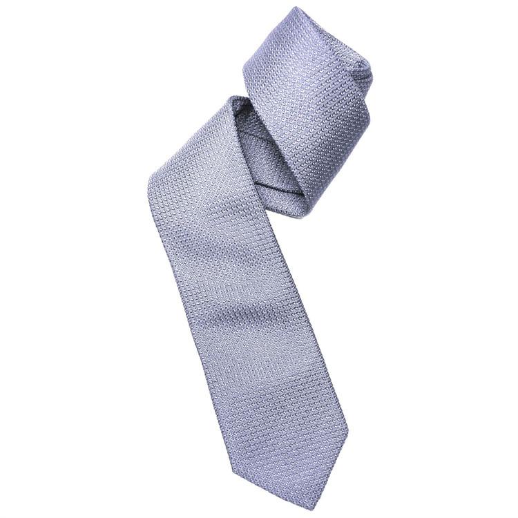 Sky Blue Grenadine Woven Silk Tie by Robert Jensen