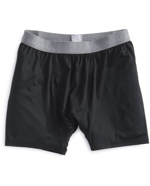 Solid Stretch Jersey Performance Boxer Brief in Black by Peter Millar