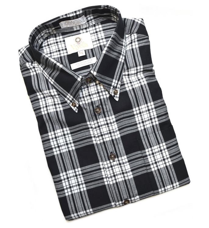 Black and Winter White Plaid Shirt by Viyella