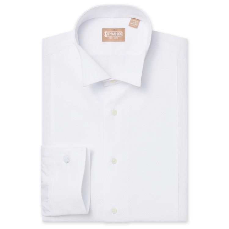Wing Collar Pique Bib Tuxedo Shirt by Gitman Brothers