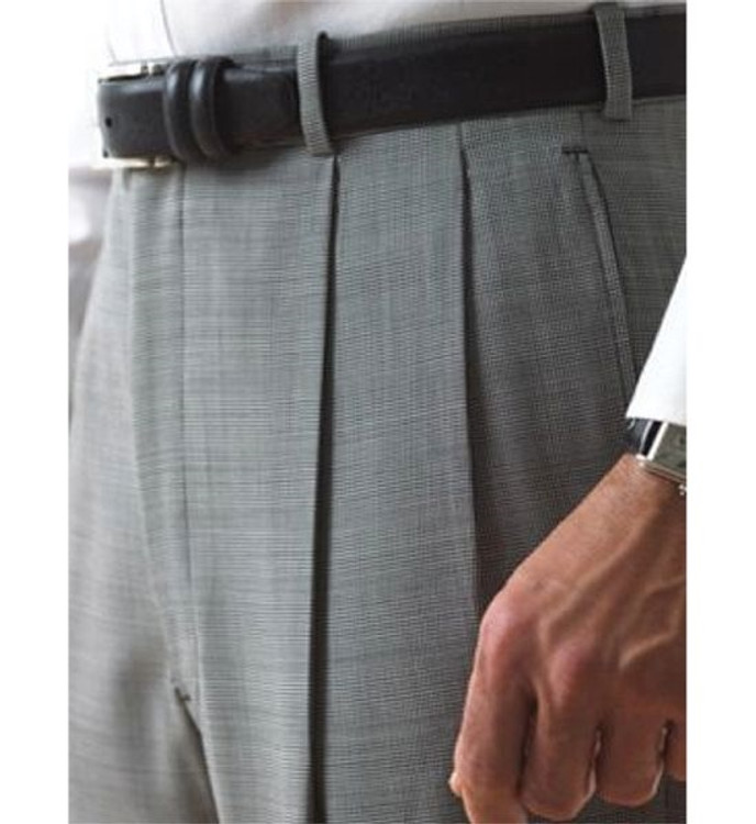 'Lanyard' Double Reverse Pleat Trousers in 120's Worsted Wool Gabardine by Corbin