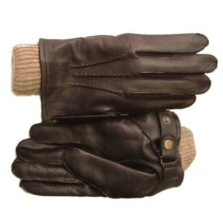 2 in 1 Deerskin/Cashmere Glove by Burfield