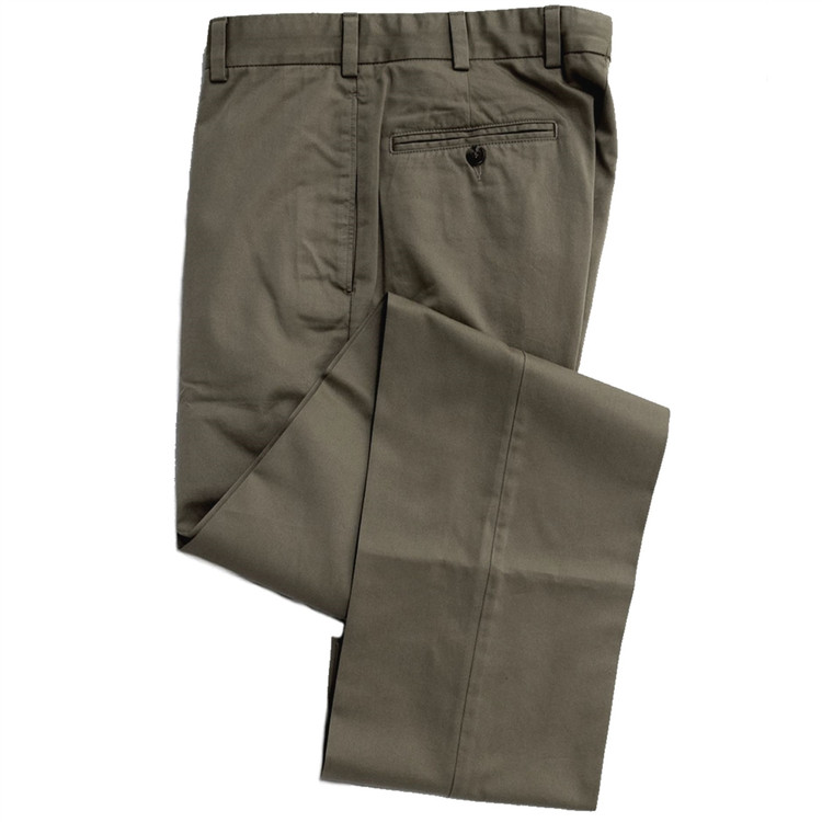 Vintage Twill Pant - Model F2 Standard Fit Plain Front in Sage by Hansen's Khakis