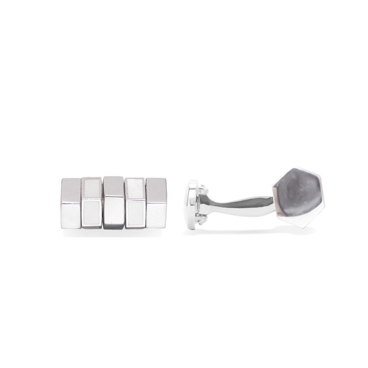 'Pretty Nuts' Mother of Pearl and Sterling Silver Cufflinks by Robert Talbott