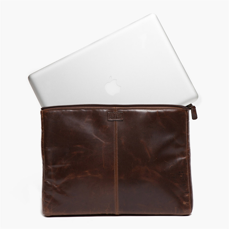 Tucker Laptop Sleeve in Brompton Brown by Moore & Giles