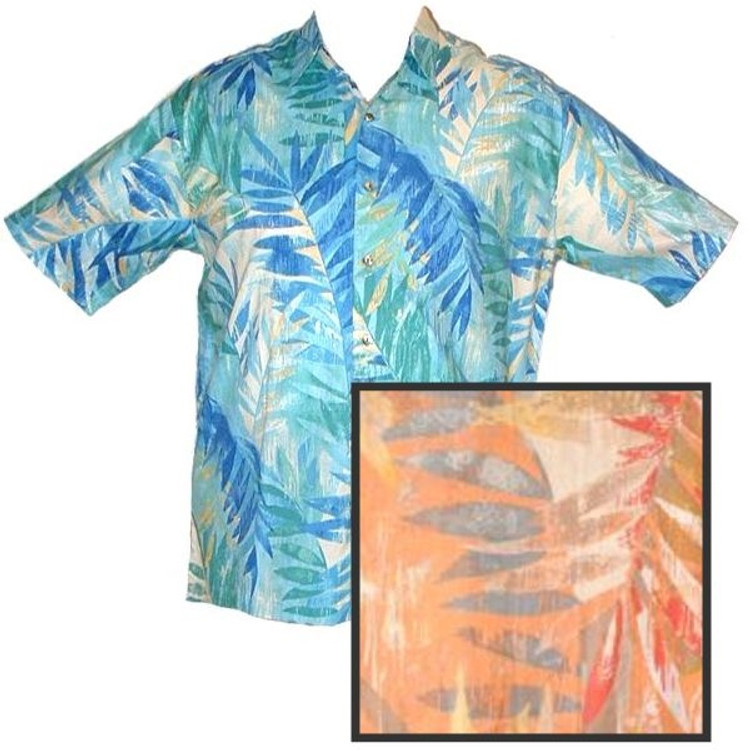 'Waterfall' Resort Shirt in Melon (Size Large) by Tori Richard