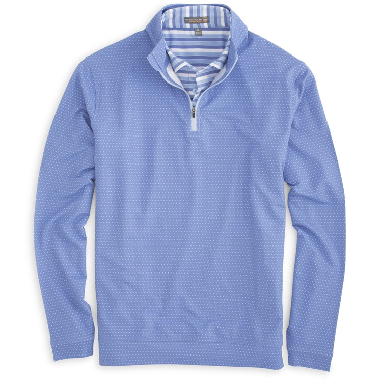 'Perth' Check 'Crown Sport' Performance Pullover in Cascade Blue (Size Large) by Peter Millar