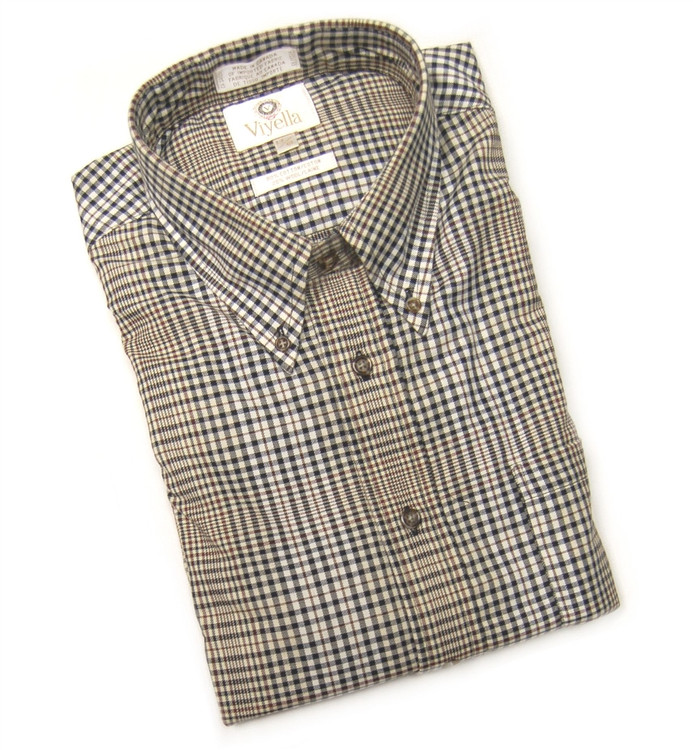 Black and Tan Plaid Shirt by Viyella