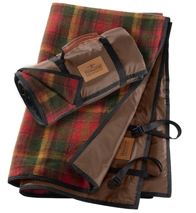 Roll-Up Blanket in Maple Leaf Plaid by Pendleton
