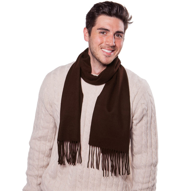 Merino Wool and Cashmere Solid Scarf in Choice of Colors by Alashan Cashmere