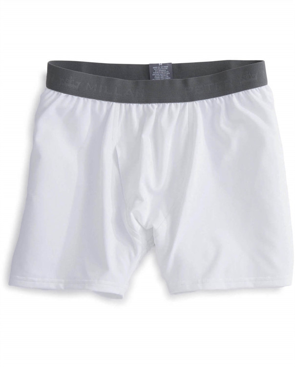Solid Stretch Jersey Performance Boxer Brief in White by Peter Millar