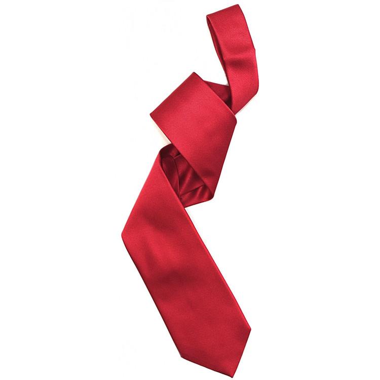 Silk Barathea Tie in Red by Robert Jensen