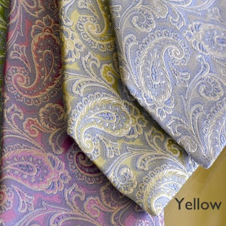 Best of Class Paisley Woven Jacquard Silk Tie in Yellow by Robert Talbott