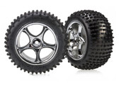 """Traxxas Tyres And Tracer Chrome Alias 2.2"""" Rims (Assembled & Glued) 2PCS (TRA2470)"""