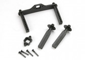 Traxxas 4914R Body mount posts, front (2)/ body mount, rear/ body mount screw pins (4)