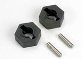 Traxxas 4954 Hex wheel hubs (2) / axle pins (2.5x12mm) (2)